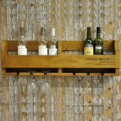 Wooden Wine Box & Glass Storage