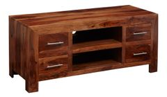 CUBE Plasma Tv Cabinet 4 Drawer 2 Shelves