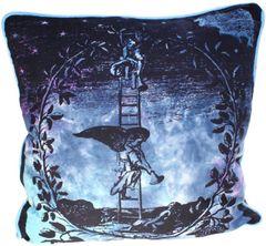 Angel on Ladder Cotton Print Cushion