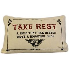 Take Rest Canvas Cushion