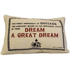 A Great Dream Cotton Canvas Cushion