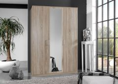 ORCHID 3 Door Wardrobe with Mirror Alpine White or Oak Effect or Wenge Effect