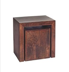 Indian Hub TOKO Mango Cubed Nest Of 2 Tables