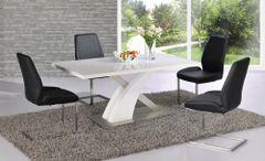 Mayfair XO Table with 4 Mariya Chairs Black