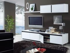 BREEZE White Gloss TV Complete Wall Cabinet