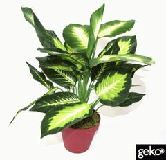 Artificial Plant Medium 40cm Dieffenbachia Dark Plant