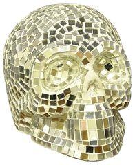 Silver Mosaic Skull 30cm