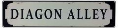 Metal Street Sign DIAGON ALLEY 70cm x 17cm