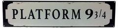 Metal Street Sign PLATFORM 9 ¾ 70cm x 17cm