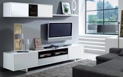 HOLLY White Gloss TV Complete Wall Cabinet