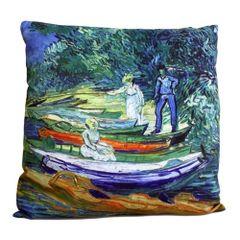 Rowing Boats - Van Gogh Cushion