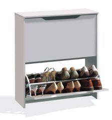 BREEZE Combi Stackable White 16 Pair Shoe Cabinet