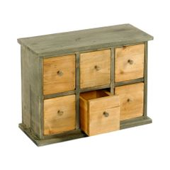 Six Drawer Storage Cabinet