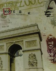 Paris Postcard - 35cm x 28cm - 24mm Thick Wooden Base