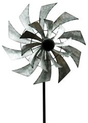 Double Windmill Garden Spinner 59""