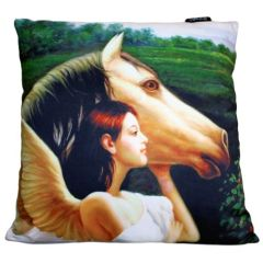 Angel With Horse Cushion