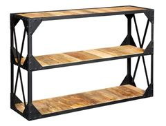 Indian Hub ASCOT Industrial Style Console Table / Tv Stand / Shelves
