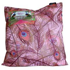 Lilac Peacock Cushion