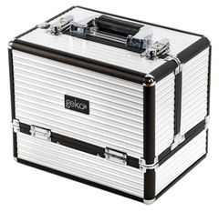 Vanity Case / Makeup Box Black & Silver