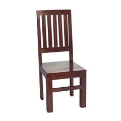 Indian Hub TOKO Mango Dining Chair High Slat Back x 2 (sold as a pair)