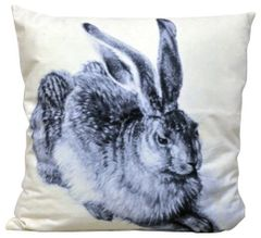 Sitting Hare Cushion 45cm