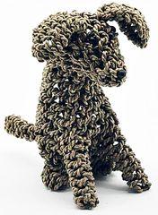 Seagrass Sitting Dog