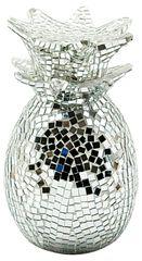 Silver Mosaic Pineapple 30cm