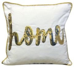 Gold Home Cushion 45cm