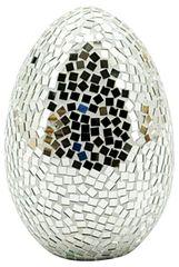 Silver Mosaic Egg 40cm