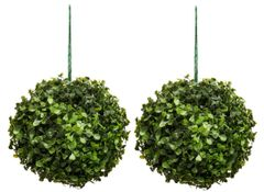 Artificial 18cm Topiary Leaf Ball Set of 2 SUPER REALISTIC FOLIAGE