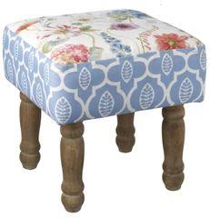 Floral Design Footstool 35cm
