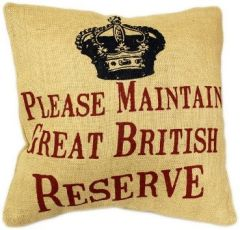 Please Maintain Great British Reserve Cushion
