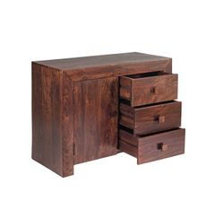 Indian Hub TOKO Mango Sideboard 3 Drawers 1 Door