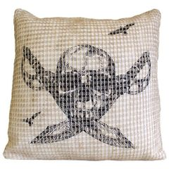 Designer Pirate Skull & Cross Knives Cushion