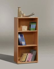 FUSIA Short Narrow Bookcase Beech / White