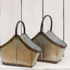 Two Metal Trugs