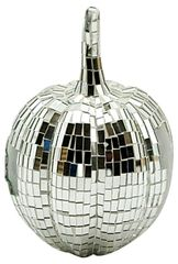 Silver Mosaic Pumpkin 30cm