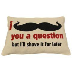 I Mustache You Cotton Canvas Cushion