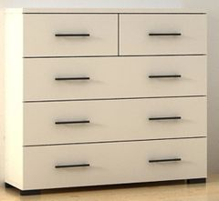 ANTHEA 3 + 2 Chest of Drawer Wenge / Matt White / Oak