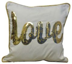 Gold Love Cushion 45cm