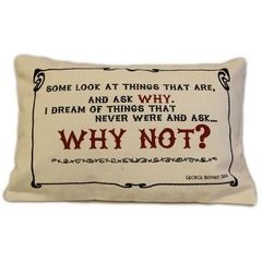 Why Not? Cotton Canvas Cushion