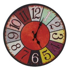 Large Wooden Shabby Chic Rustic Wall French Clock