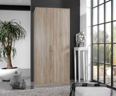 ORCHID 2 Door Wardrobe Alpine White or Oak Effect