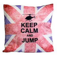 Keep Calm & Jump Cushion
