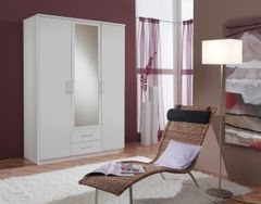 ORCHID 3 Door 2 Drawer Wardrobe with Mirror Alpine White or Oak Effect or Wenge Effect