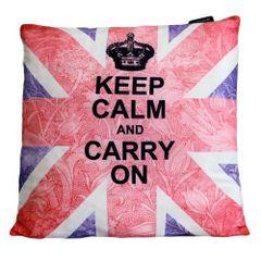 Keep Calm & Carry On Cushion