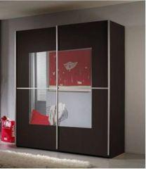 ALDER 2 Door Mirror Sliding Wardrobe 220cm Wenge