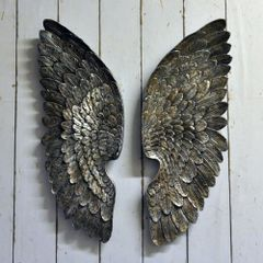 Antique Silver Left & Right Wings 70cm