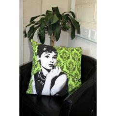 Designer Cushion - Audrey on Green