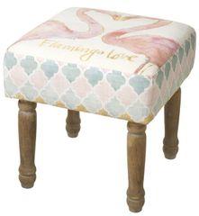 Flamingo Design Footstool 35cm